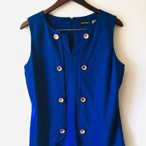 • ellen tracy cobalt formal sleeveless dress •